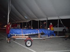 Teams packing up in the middle of the night